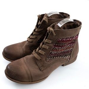 Roxy Fremont II Brown Lace Up Casual Ankle Boots
